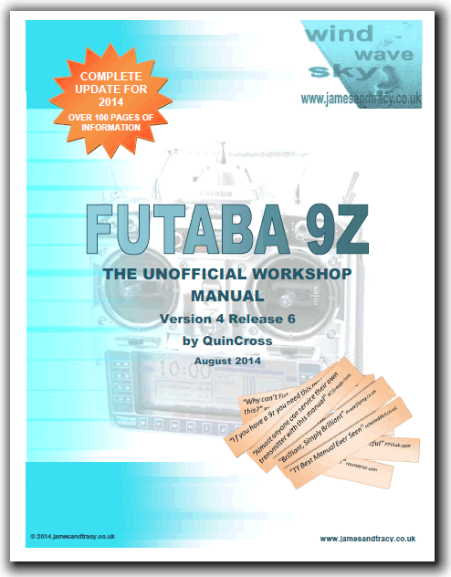 Futaba 9Z - Unofficial Workshop Manual Available (Service, Repair
