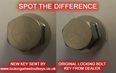 How to identify and replace your lost or broken locking wheel nut key @ jamesandtracy.co.uk
