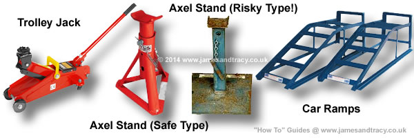 All about automotive Jacking Equipment - Axel Stands, Trolley Jacks and Ramps @ www.jamesandtracy.co.uk