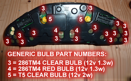 Mercedes Instrument Panel Bulb Replacement And Converting To Led