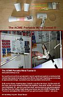 The original DIY Portable Wind Tunnel for testing trim and decalage on aircraft @ www.jamesandtracy.co.uk