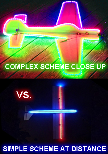 Simple vs Complex Night Flying LED Layouts for your RC Plane