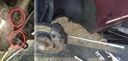 How to remove Mercedes S Class Brake Calipers  @ www.jamesandtracy.co.uk