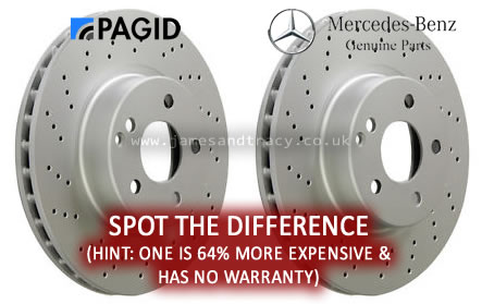 Dealer 'Genuine' parts vs. OEM equivalent - which is best? @ www.jamesandtracy.co.uk