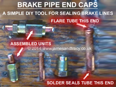 Brake Pipe End Caps - a DIY anti-drip tool for brake pipes and brake lines